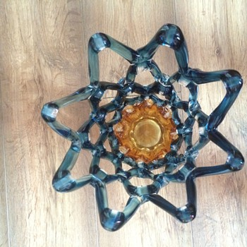 open lace art glass vase - Art Glass