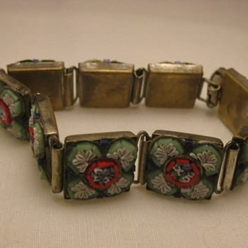 Micro-mosiac bracelet from Italy - Costume Jewelry