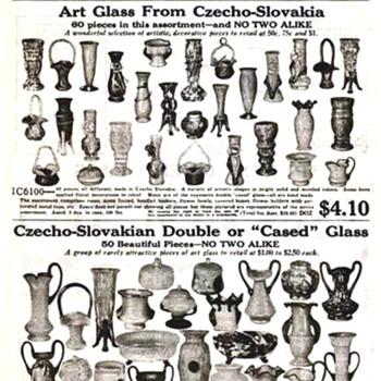 Kralik, Steinwald, Ruckl and Welz.... Czech Art Glass in the Butler Brothers Assortment Offers in 1928 - Art Glass