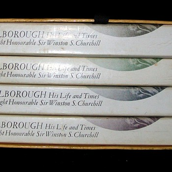 MARLBOROUGH HIS LIFE AND TIMES 4 VOLUME SET by WINSTON CHURCHILL