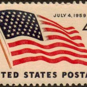 "1959 - ""U.S. Flag Issue"" Postage Stamp (US) - Stamps"