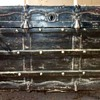 Antique Trunk Restored in Leather