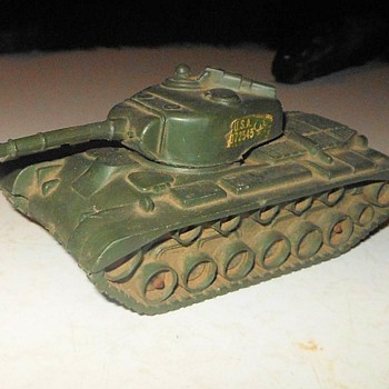 Auburn Rubber Toy US Army Tank 1950s Plus Bonus Hidden Cat - Toys