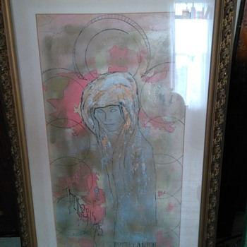 Vintage Unique Painting with Ink Where Trying to Identify the Signed Artist - Fine Art