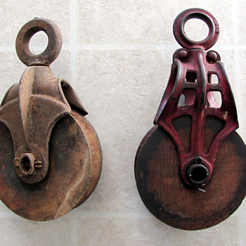 Old Pulleys - Tools and Hardware