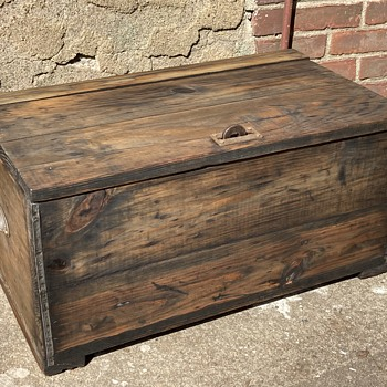 Antique wooden box dated Feb 28, 1916- any info? - Furniture