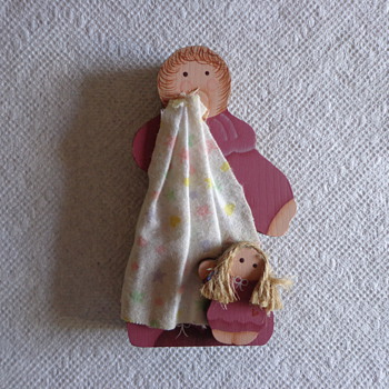 Wooden Mother and Child - Dolls