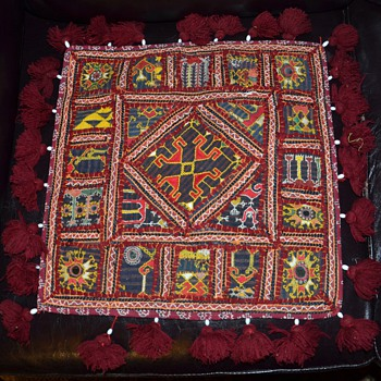Tribal Fabric Pillowcase and Kuba Cloth Skirt  - Rugs and Textiles
