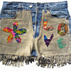 Eric's 1960's Summer of Love Signed Patched Denim Psychedelic Shorts