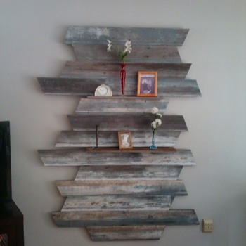 More repurposed wood/wall art! - Fine Art