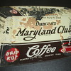 Maryland and Club Coffee Advertising Glass