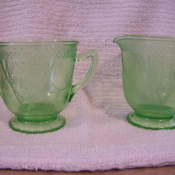 Creamer and Sugar - Glassware