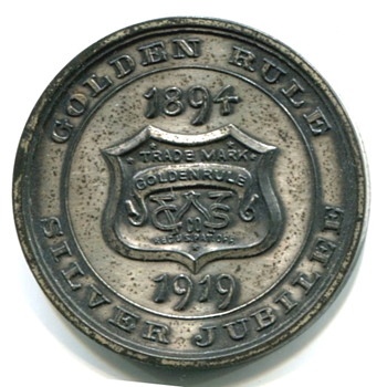 Golden Rule Employee Medal - Advertising