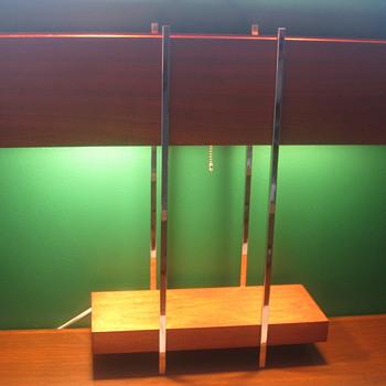 Mid Century Mahogany Lamp Danish - Lamps