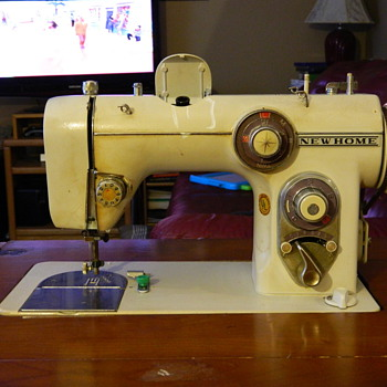New Home Model # 672 Cabinet Sewing Machine - Sewing