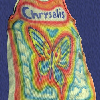 Vintage 1970's CHRYSALIS RECORDS Tie-Dye Butterfly tank top shirt from a former record executive - Mens Clothing