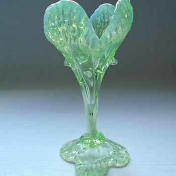 Kralik Flower Vase with Thorns - Art Glass