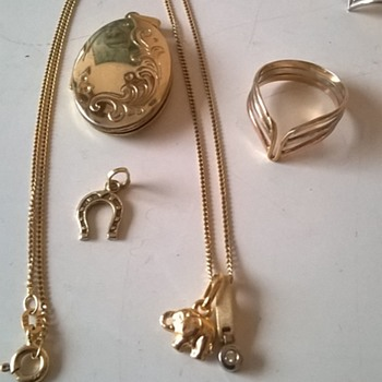 14K & 18K Jewelry Found In A 10 Euro Jewelry Jar.... - Fine Jewelry