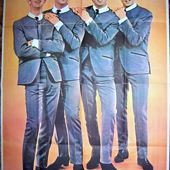 Beatle Poster over 5 feet ! tall... - Music Memorabilia