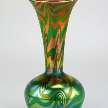 Victor Durand King Tut Art Glass Vase, signed - Art Glass