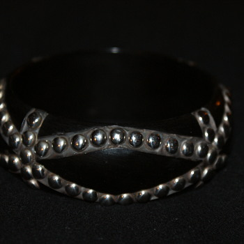 Unusual Studded Bangle - Costume Jewelry