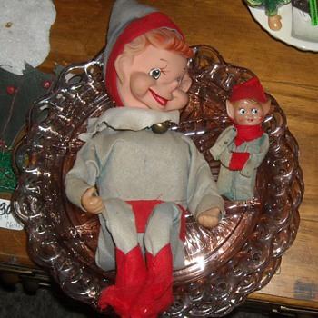 Vintage Extra Large Musical Knee Hugger Elf