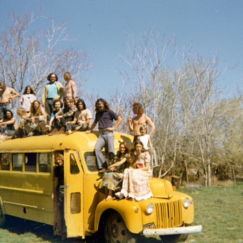 Original 60s - early 70s Snapshots of a Hippie Bus - Photographs