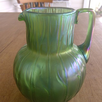 Pair of Loetz Jugs - Art Glass