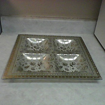 GEORGE BRIARD SNACK TRAY - Art Glass