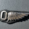 antique military aviation wing medal pin ?