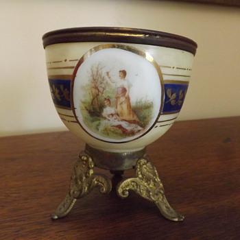 French? cased glass finger bowl?  - Art Glass