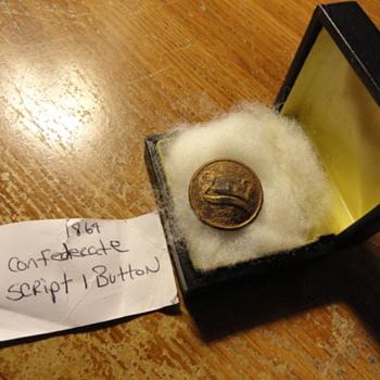 1864 Confederate script 1 Button