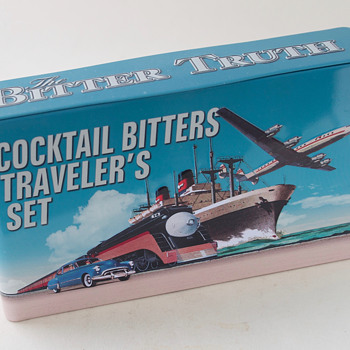 Contemporary Art Deco Bitters Tin - Advertising