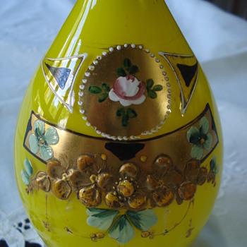 Rare Tango glass yellow jug - Art Glass