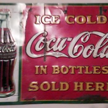 Unknown Coca Cola Sign  - Coca-Cola