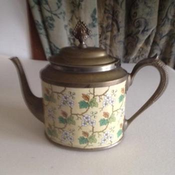 Unusual graniteware teapot.  Unusual shape and pattern. - Kitchen