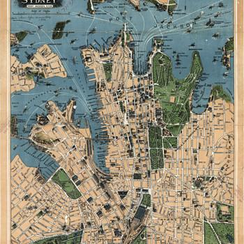 Robinson's map of Sydney, Australia (1922) - Paper