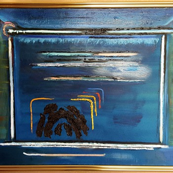 Original Modern Oil Painting On Canvas by Emil Kelemen - Mid-Century Modern