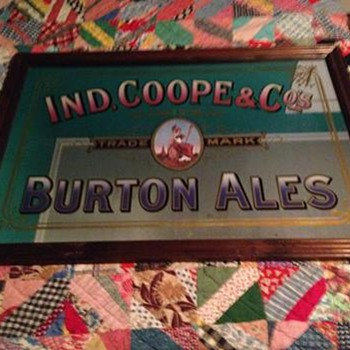 Ind. Coope & Co.s Burton Ale Mirror - Advertising
