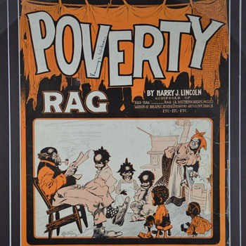 Black Americana Poverty Rag Sheet Music - Music Memorabilia