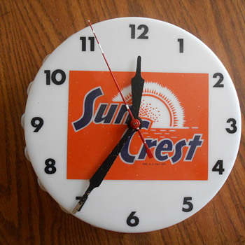 Sun Crest Soda Bottle Shaped Clock  - Clocks