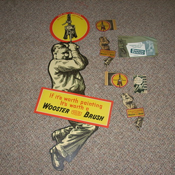 1930s Wooster Brush Co. Promotional Material - Signs