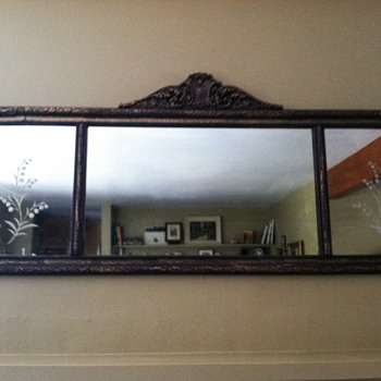 Antique mantel mirror - mission accomplished - Furniture