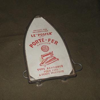 """Le """"Posfer"""" Pore-Fer Ironing Trivet"""