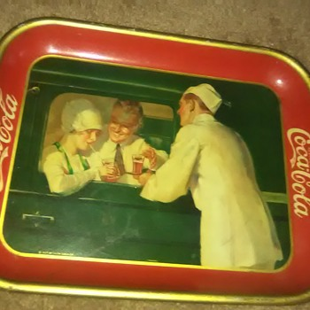 1922,1924,1927 coca cola trays - Coca-Cola