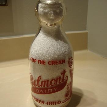 BELMONT DAIRY...WARREN OHIO...COP THE CREAM MILK BOTTLE - Bottles