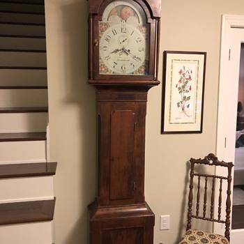 Lancaster County PA 1830's Grandfather Clock - Clocks