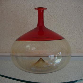 tapio wirkala bottle by venini  - Art Glass