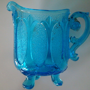 Victorian era pressed glass creamer - unknown - Victorian Era