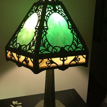 Table Lamp with stain glass inserts - Lamps